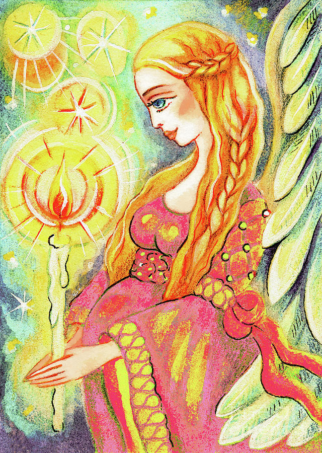 Pregnant Mother Painting - Guardian Mother Of Light by Eva Campbell