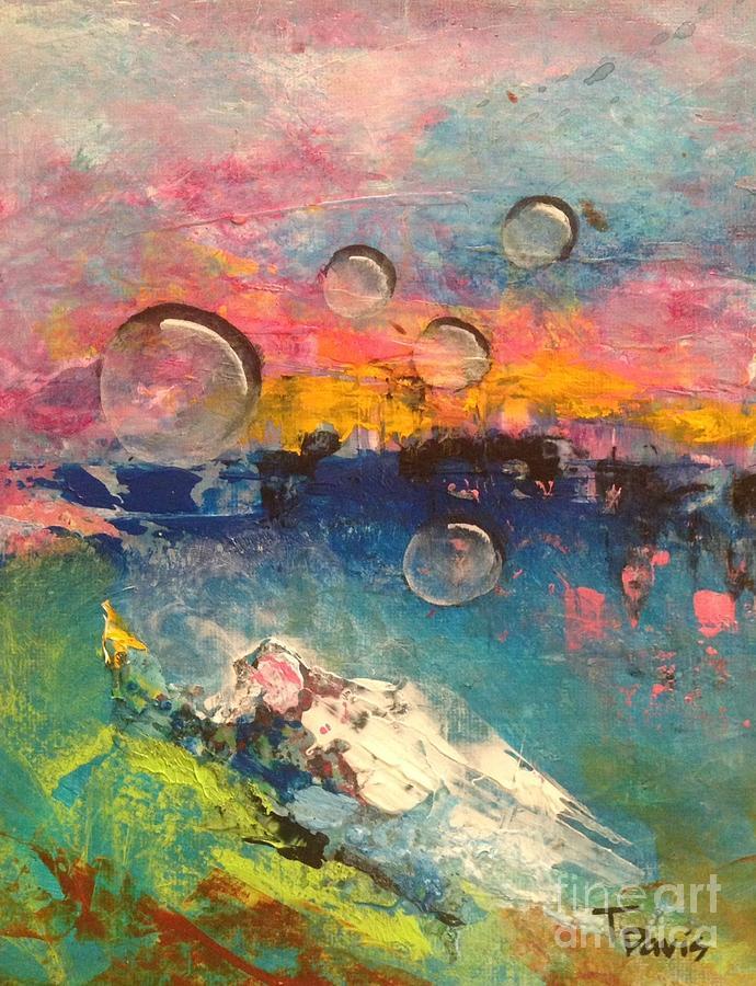 Bubbles Painting - Guardian of Dreams by Terri Davis