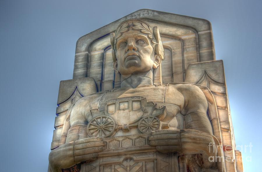 Hope Memorial Bridge Photograph - Guardian Of Traffic by David Bearden