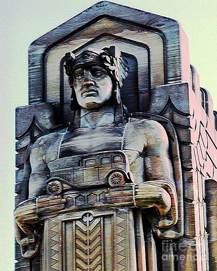 Cleveland Photograph - Guardian Of Traffic by Donna Stewart