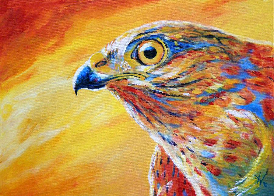 Acrylics Painting - Guardian Spirit by Arie Van der Wijst