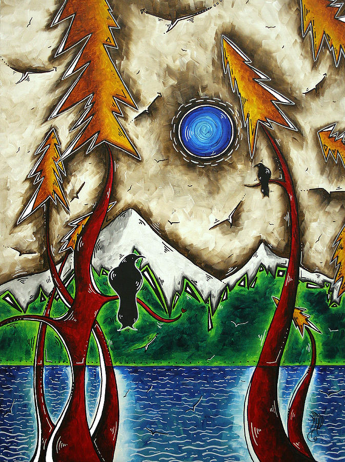 Art Painting - Guardians Of The Wild Original Madart Painting by Megan Duncanson