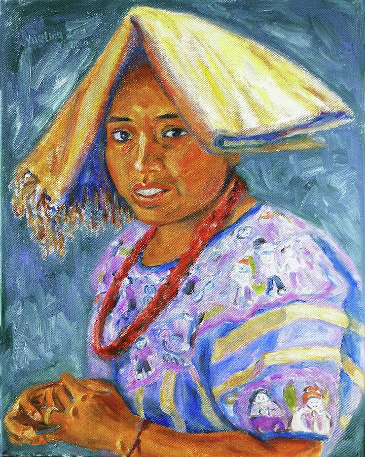 Guatemalan Painting - Guatemala Impression II by Xueling Zou
