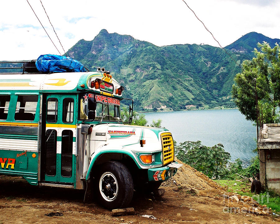 Guatemala Photograph - Guatemalan Chicken Bus by Trude Janssen