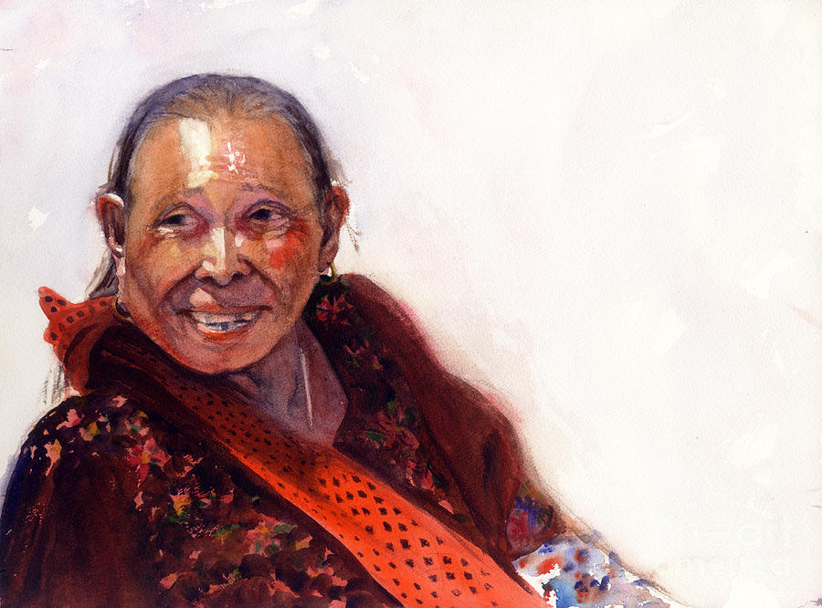 Guatemalan Woman Painting by Terri  Meyer