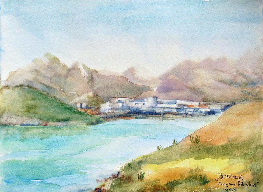 Guaymas Painting - Guaymas Fish Plant by Diane Binder