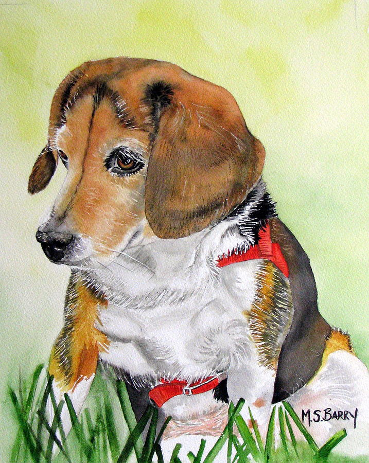 Dog Painting - Gucci 1 by Maria Barry
