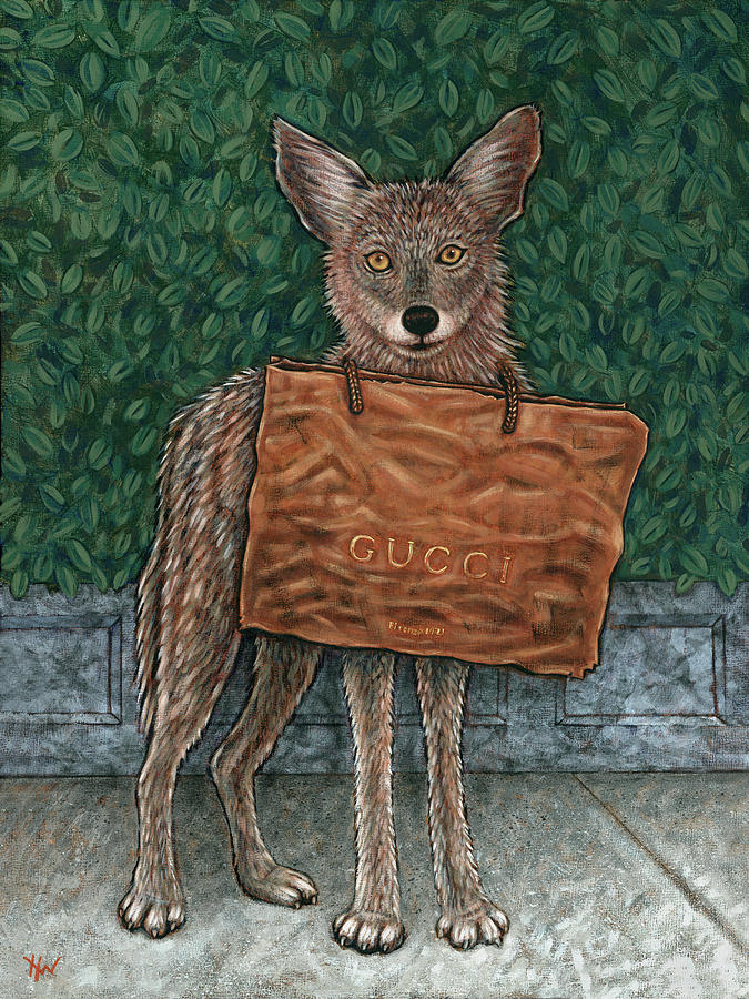 Coyote Painting - Gucci Coyote by Holly Wood