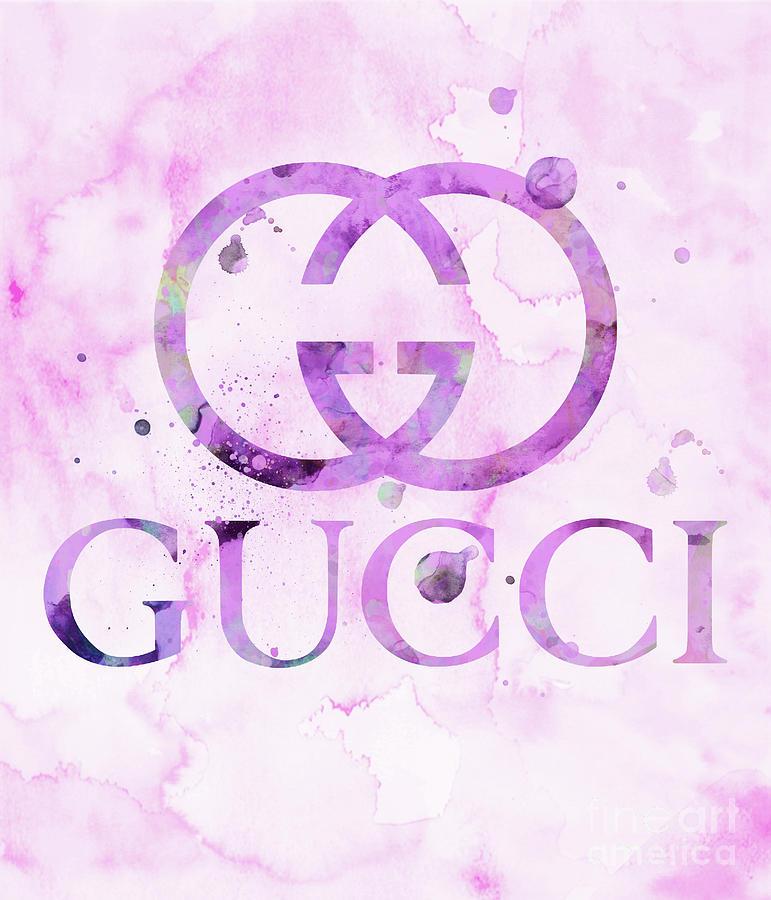 Gucci Logo 1 Watercolor 4 Digital Art By Del Art