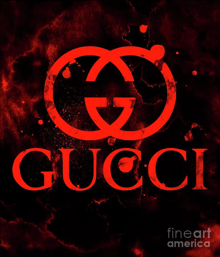 648a5281ae Gucci Logo Red 2 Digital Art by Del Art