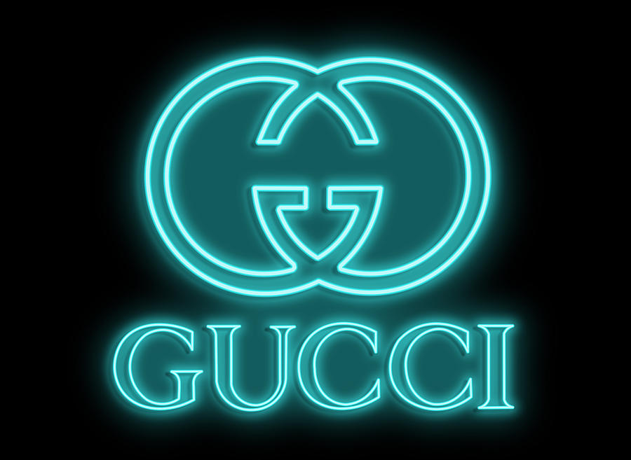 Gucci Digital Art - Gucci Neon Sign by Ricky Barnard