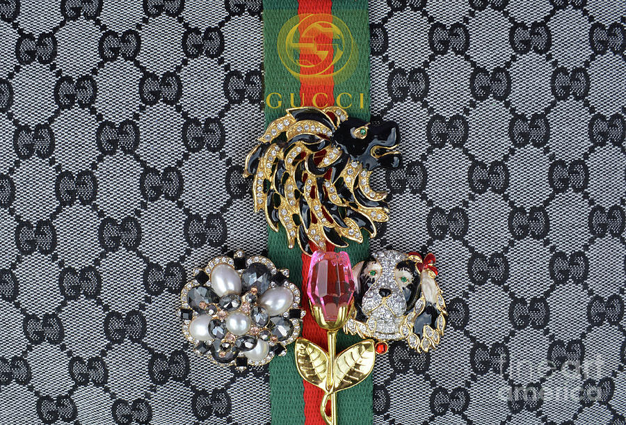 Gucci Digital Art - Gucci With Jewelry by To-Tam Gerwe