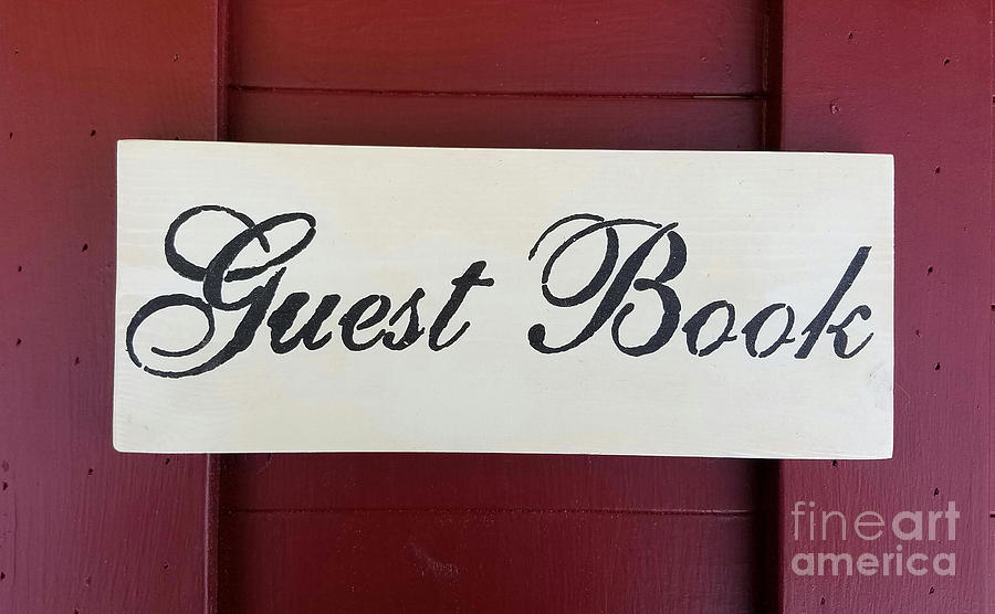 Wood Painting - Guest Book  by Scott D Van Osdol
