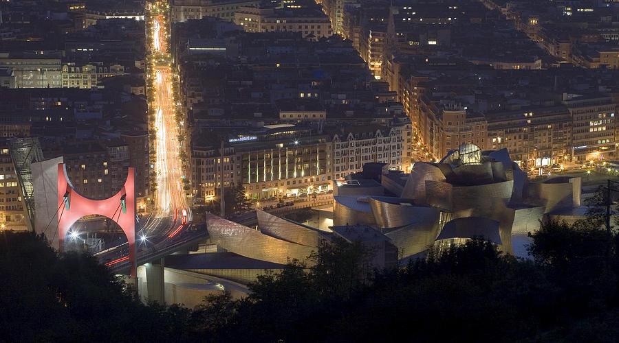 Spain Photograph - Guggenheim At Night II by Rafa Rivas