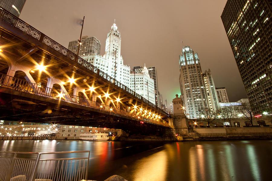 Dusable Bridge Photograph - Guide Me Across The River by Daniel Chen