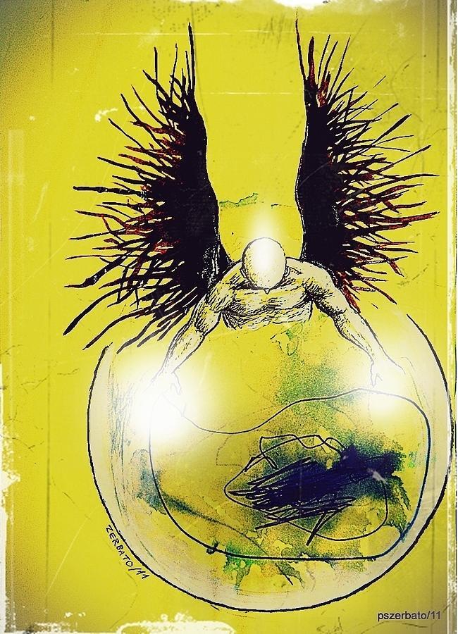 Spiritual Digital Art - Guides Protectors by Paulo Zerbato