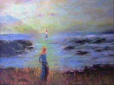 Rocky Cove Painting - Guiding Him Home by Brian Higgins