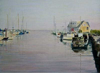 Boats Painting - Guilford Harbor by Richard Christofferson