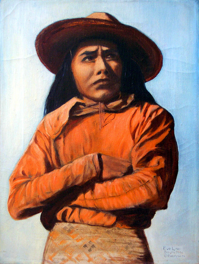 Painting - Guillermo Ortega Seri Indian by Evelyne Boynton Grierson