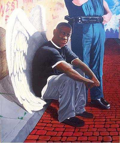 Acrylic Painting - Guilty by Association by William Burton Jr