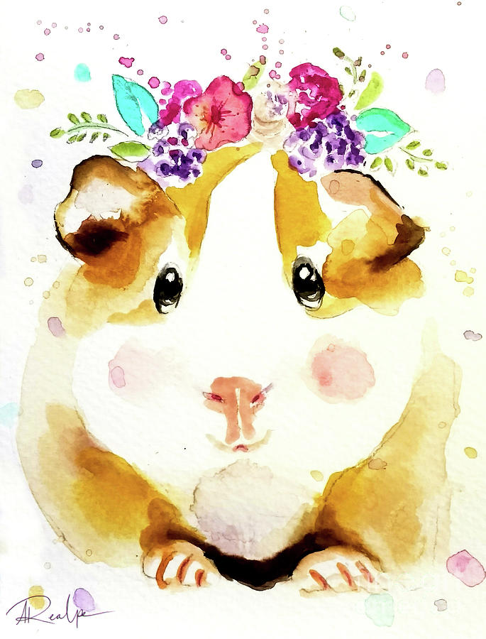 Guinea Pig Flower Bouquet by Andrea Realpe
