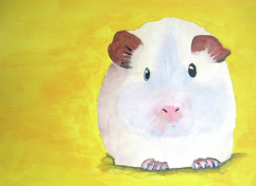 Guinee Painting - Guinee Pig by Darren Stein