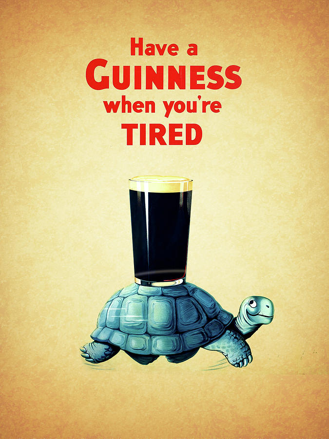 Guinness Photograph - Guinness When Youre Tired by Mark Rogan