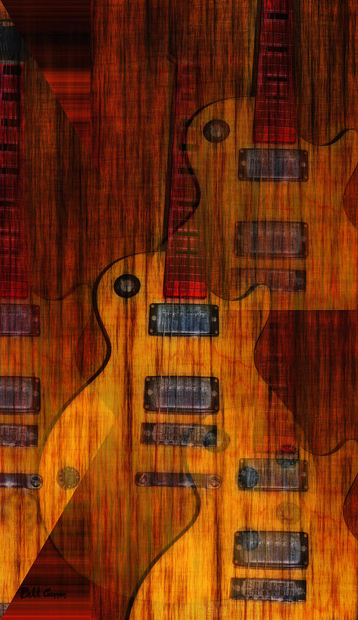 Les Paul Photograph - Guitar Army by Bill Cannon