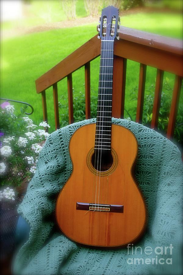 Guitar Awaiting by The Art of Alice Terrill