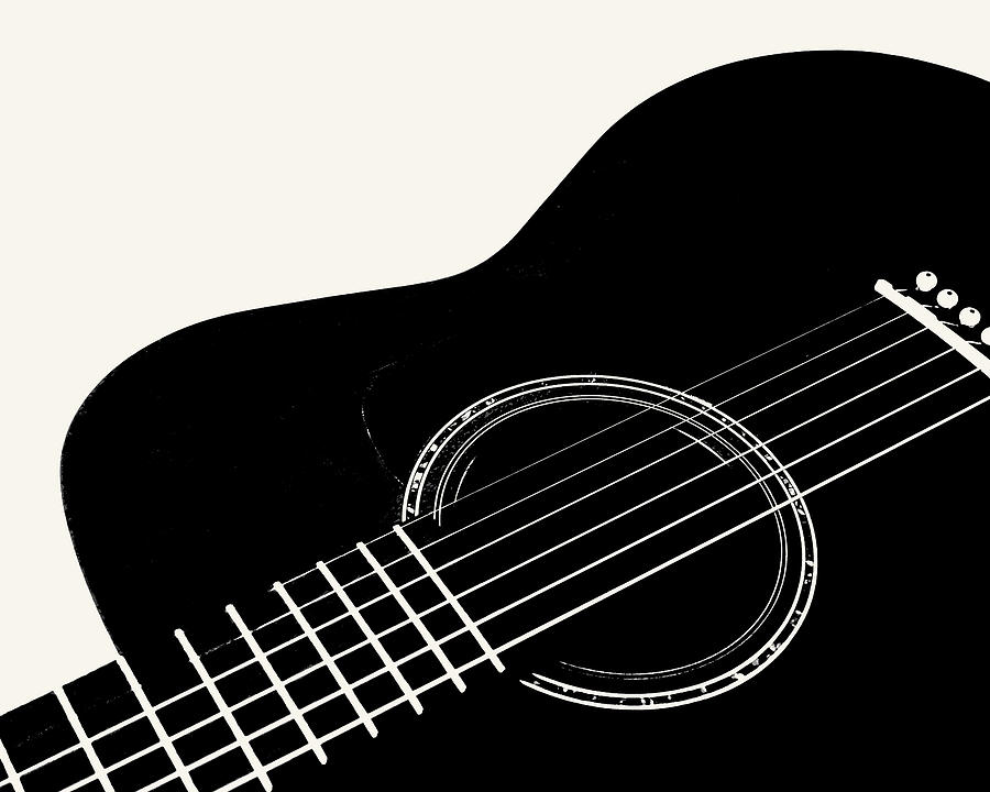 Guitar, Black and White,  by Jana Russon