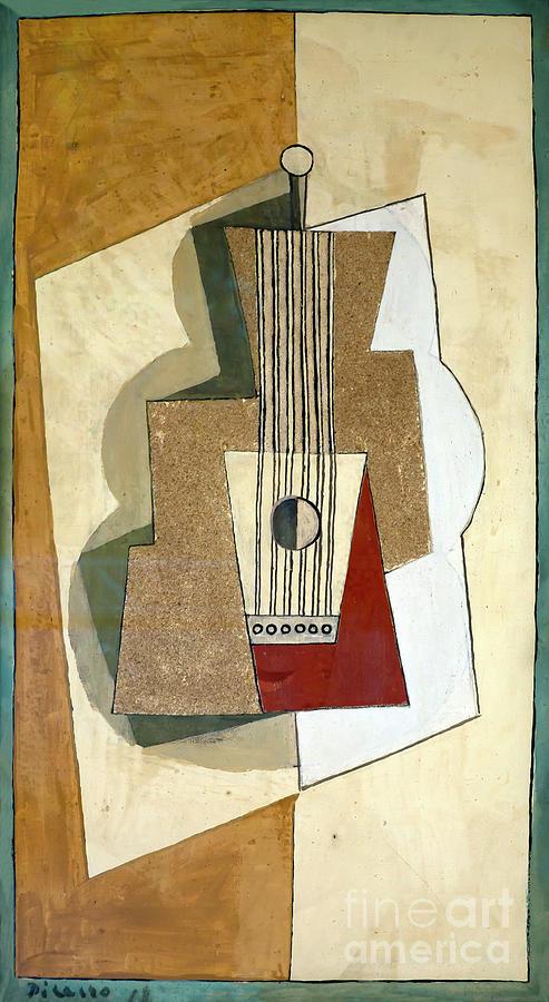 1919 Photograph - Guitar, By Pablo Picasso, 1919, Kroller-muller Museum, Hoge Velu by Peter Barritt