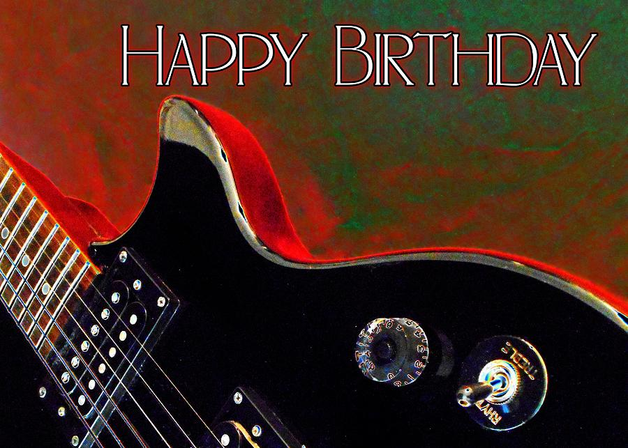 Guitar Happy Birthday Card By Elaine Ferrell