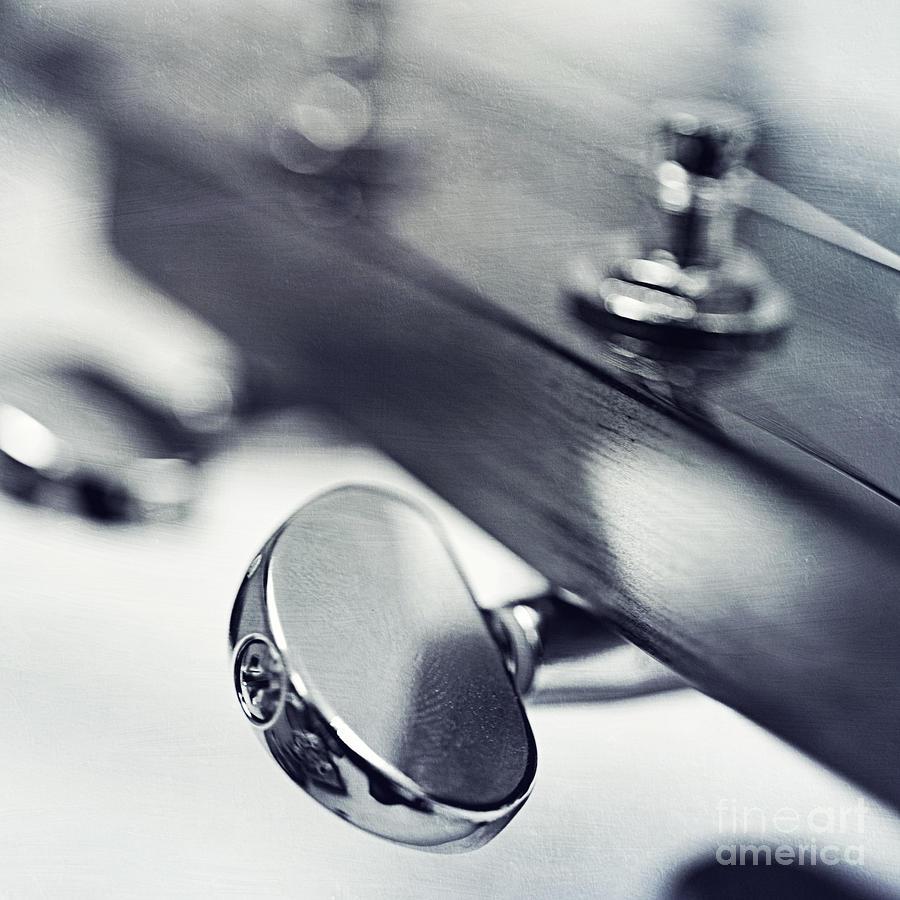 Black Photograph - guitar I by Priska Wettstein