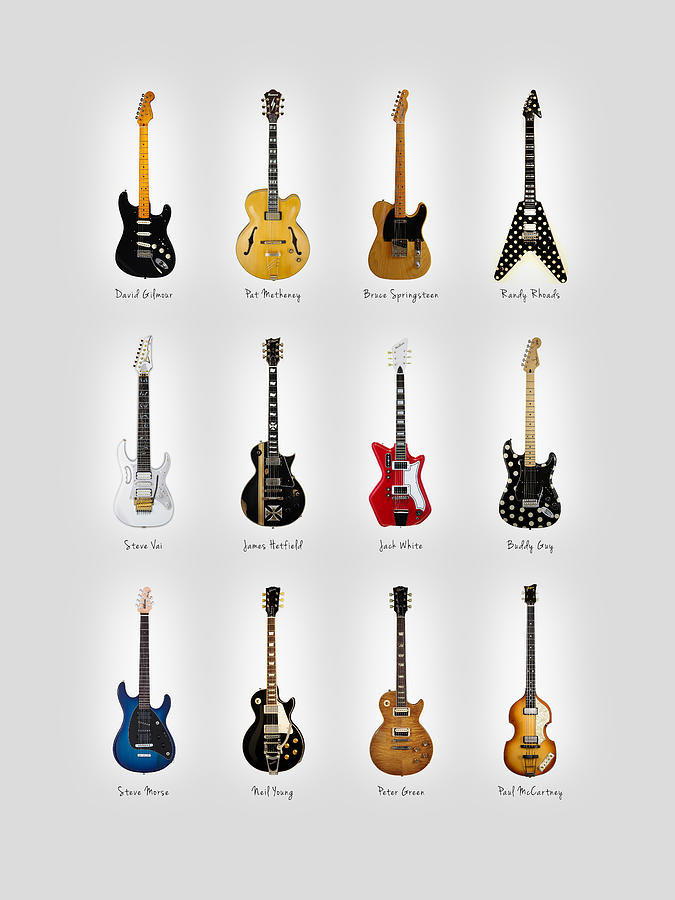 Fender Stratocaster Photograph - Guitar Icons No2 by Mark Rogan