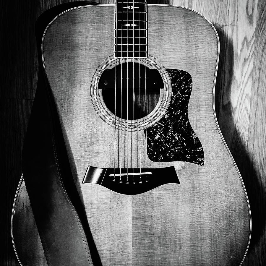 Black And White Photography Guitar