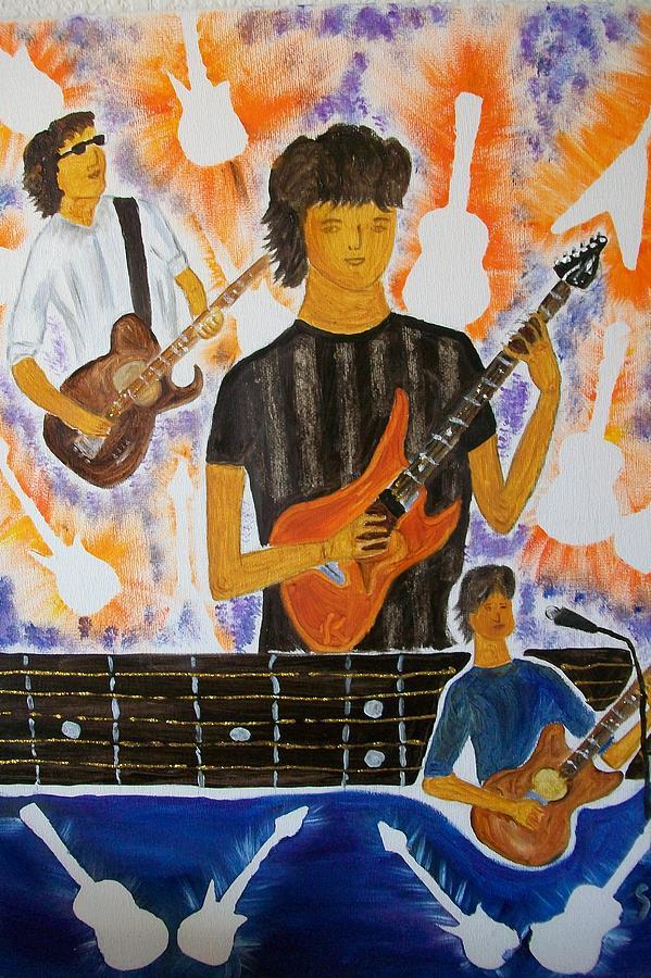 Guitar Painting - Guitar Man  by Sunita  Rathore Tanwar