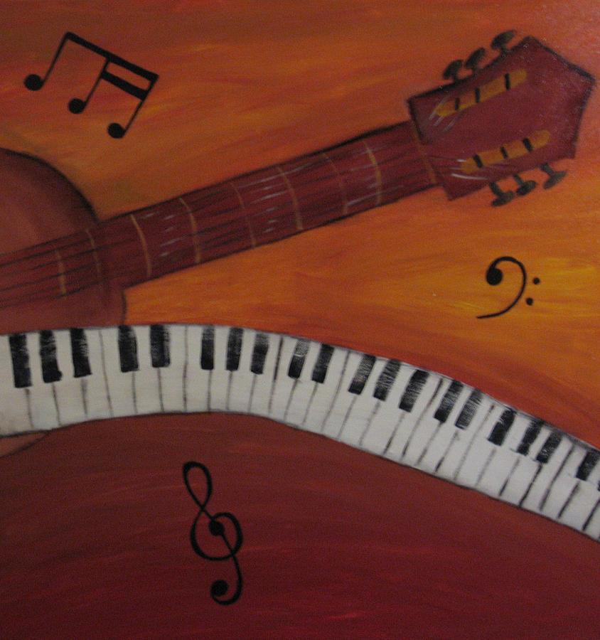 Guitar Part Two Painting by Christian  Hidalgo