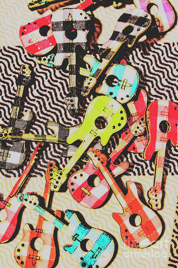 Instrument Photograph - Guitar Playtime by Jorgo Photography - Wall Art Gallery
