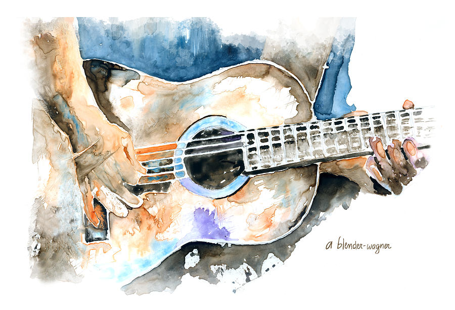Guitar Riffs Painting By Arline Wagner