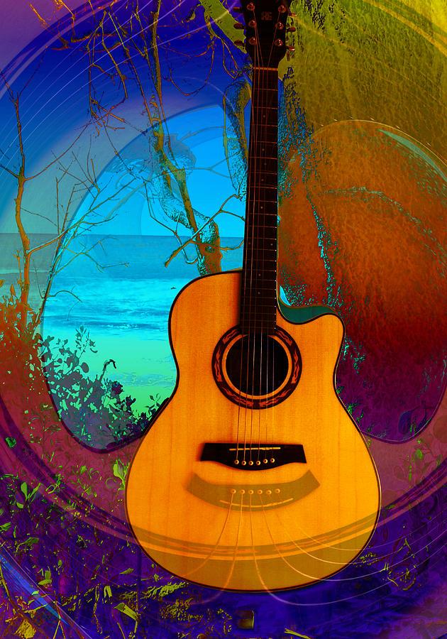 Guitar Digital Art - Guitar Tree by Shadowlea Is