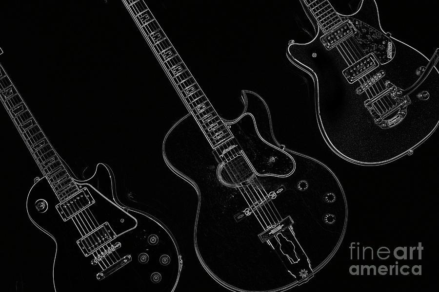 Guitar Photograph - Guitar Trio by Karol Livote