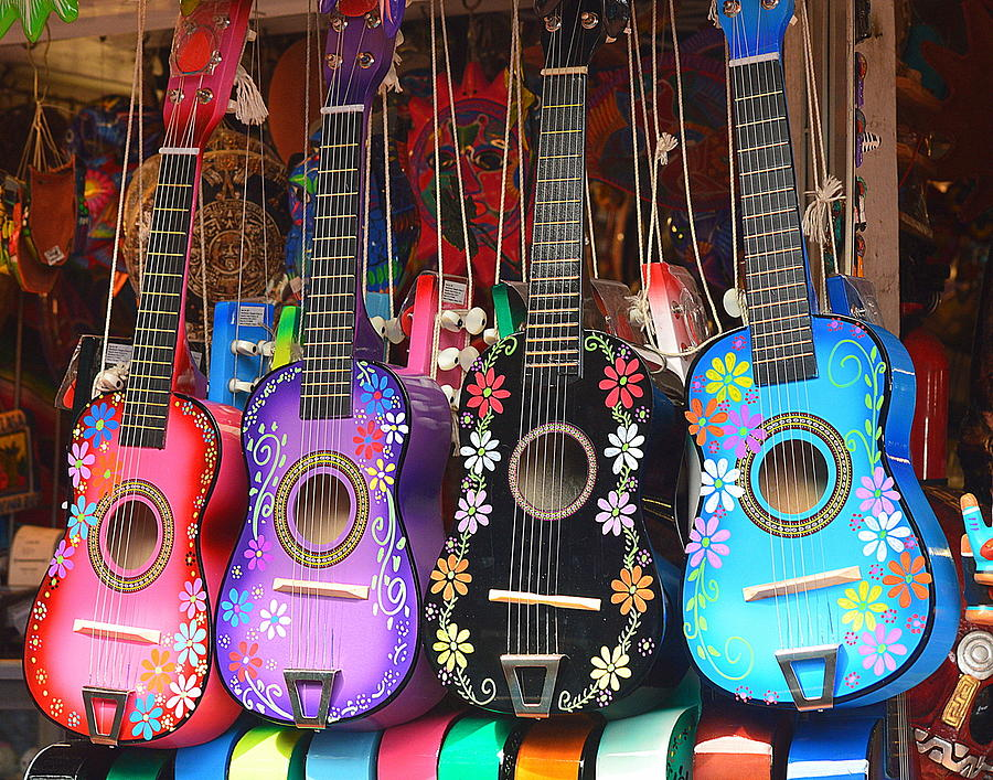 Mexican Guitars Photograph - Guitarras Floriadas II by Kimberly-Ann Talbert