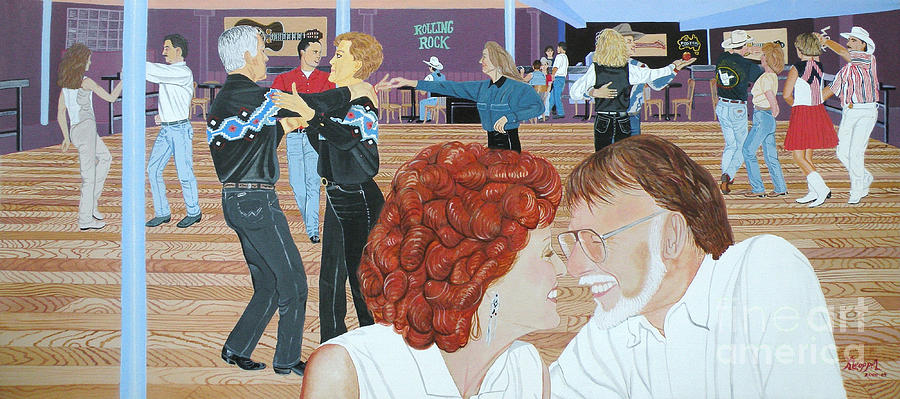 Dance Painting - Guitars And Cadillacs Omaha by Christine Belt