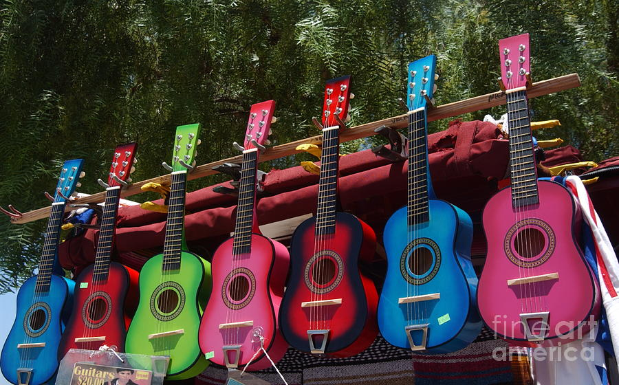 Guitars Photograph - Guitars In Old Town San Diego by Anna Lisa Yoder