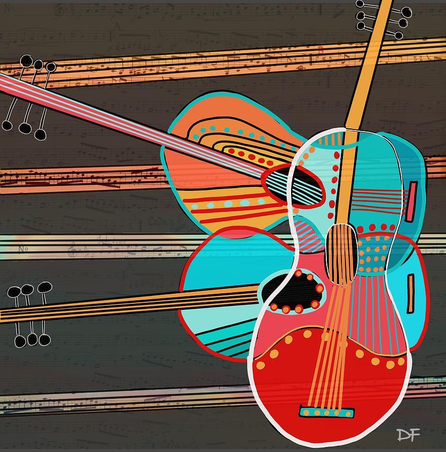 Guitars Rock by Dora Ficher