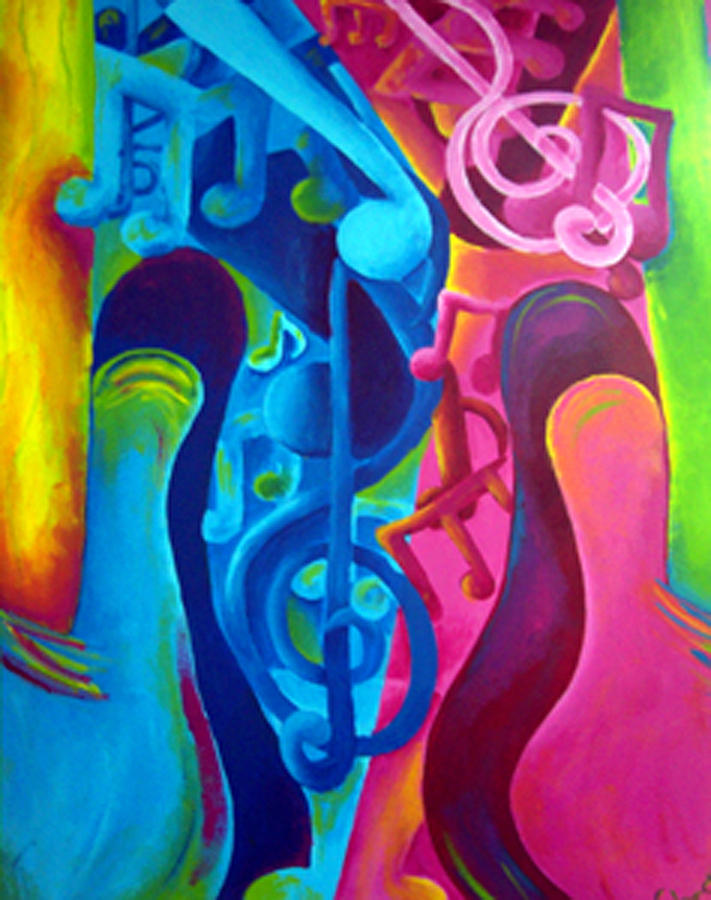 Guitars Painting by Shasta Miller