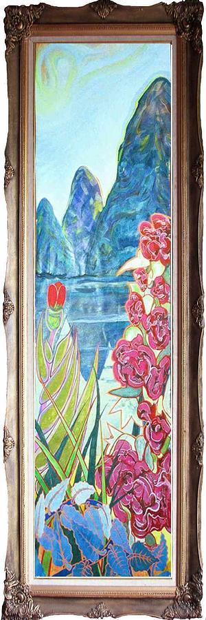 Anshun Painting - Guizhou Tryptique by Lao Dan