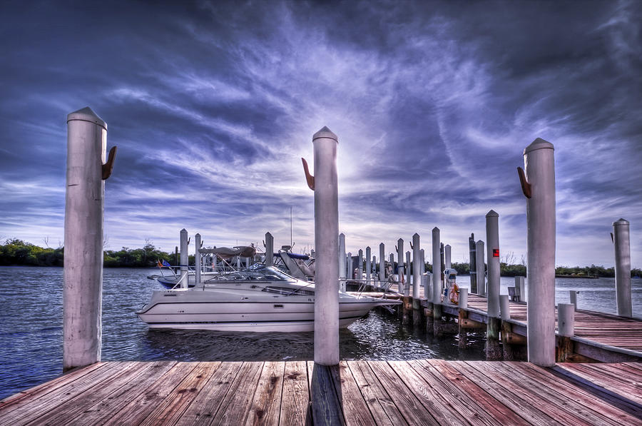 Pier Photograph - Gulf Coast Blues by Evelina Kremsdorf