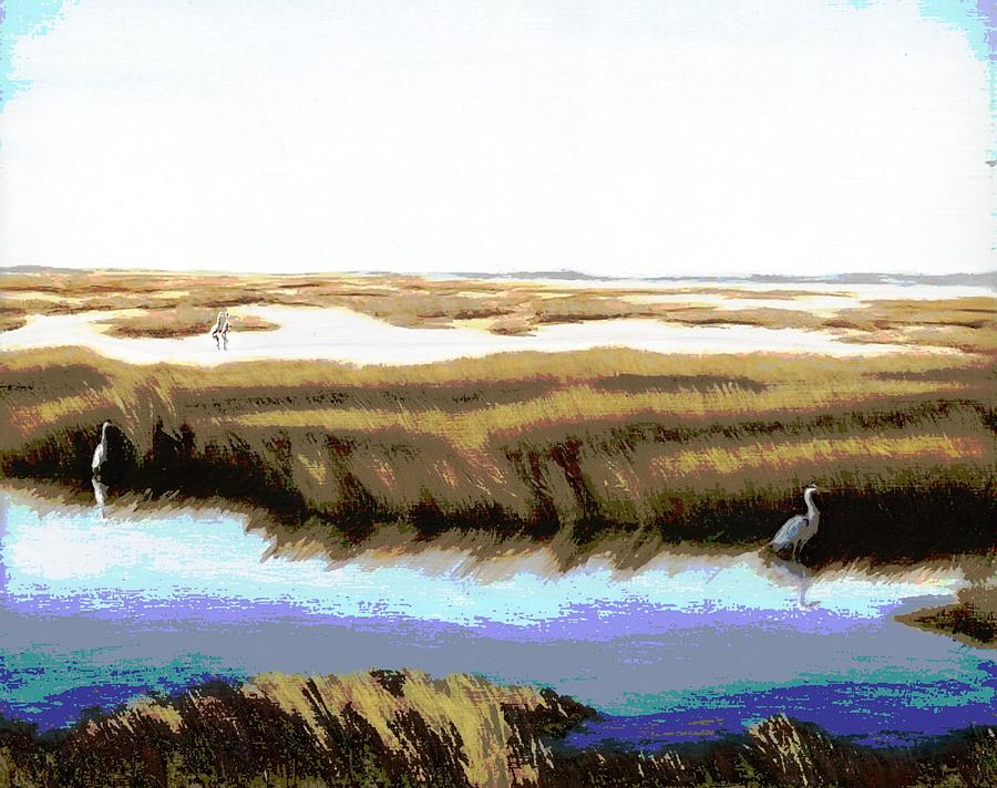 Seascapes Painting - Gulf Coast Florida Marshes I by G Linsenmayer