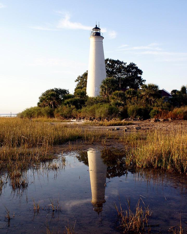 Lighthouse Photograph - Gulf Coast Lighthouse by Marty Koch